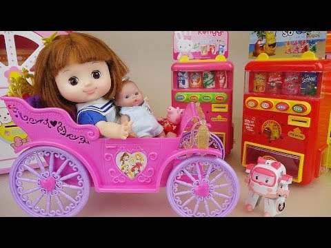 Princess baby doll car picnic toys baby Doli play