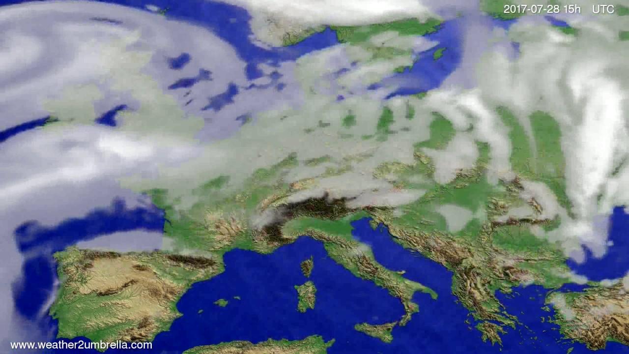 Cloud forecast Europe 2017-07-26