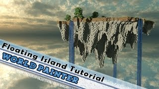 Minecraft, How To Create A Realistic Floating Island: World Painter / Single Player Commands!