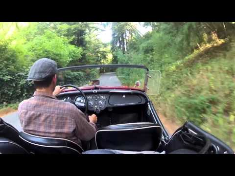 tr3 - Exploring the (bumpy) back roads of Santa Cruz in my 1960 Triumph TR3A - rather steep incline up to Scotts Valley.