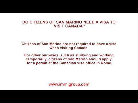 Do citizens of San Marino need a visa to visit Canada?