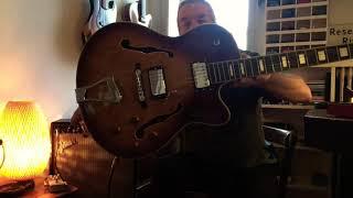 SubZero New Orleans Semi Acoustic Jazz Guitar Sunburst 😬🙏🏼🌻