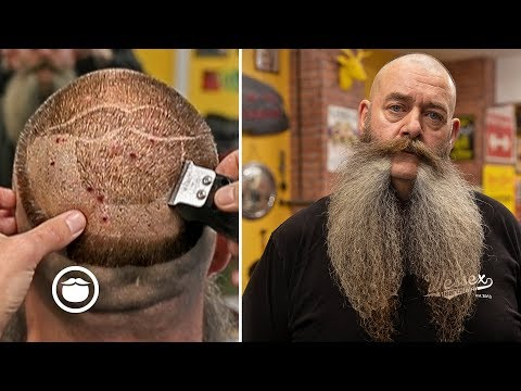 World Champion Mutton Chops with Beardbrand Logo Haircut  The Stag Barbershop