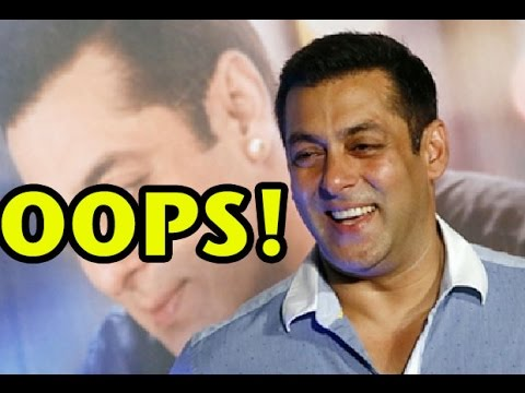When Salman Khan Had An Oops Moment!
