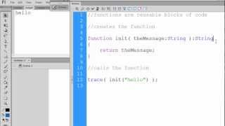 Flash CS6 Actionscript 3&2 for Beginners - Functions