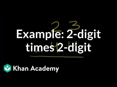 Multiplying 2 Digit By 2 Digit 23x44 Video Khan Academy