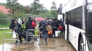 Vluchtelingen aangekomen in Harlingen