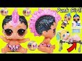 Lil Punk Girl Custom Sister as New Baby Boi at School + Pharaoh Babe Unicorn LOL Surprise Dolls