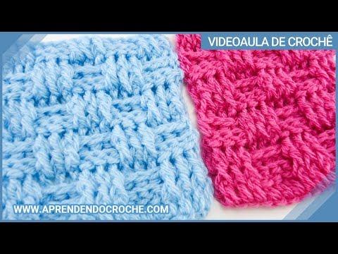Ponto de Croche Cesta - Tipos de Pontos no Crochê