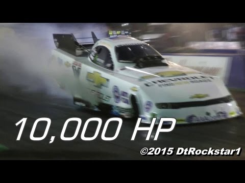 10,000 Horsepower Top Fuel Funny Cars Blasting By!