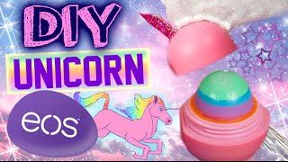 DIY Unicorn EOS Lip Balm! | Turn Your EOS Into A Unicorn! | Rainbow Glitter EOS! - YouTube