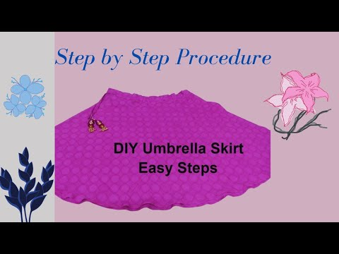 Video Very easy circular skirt - Umbrella cutting [ English ] download in MP3, 3GP, MP4, WEBM, AVI, FLV January 2017