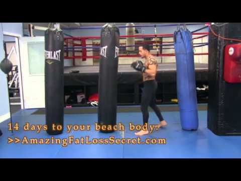 Boxing workout for weight loss.