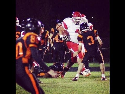 400lb high school running back is UNSTOPPABLE!