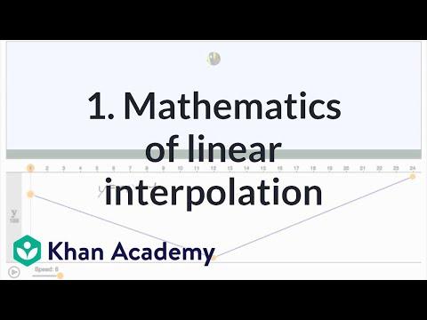 1. Mathematics of linear interpolation (video)   Khan Academy