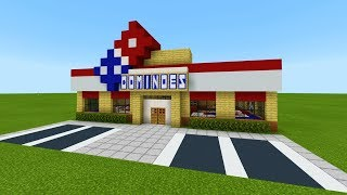 "Minecraft Tutorial: How To Make A Dominos Pizza (Restaurant) ""2019 City Tutorial"""