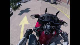 4. I test a Honda Goldwing (fully automatic transmission)
