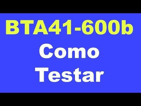 Triac Bta41-600b Como Medir / Testar