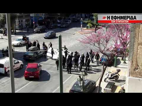 Video - Δώδεκα συλλήψεις για τα επεισόδια στην Καλλιθέα