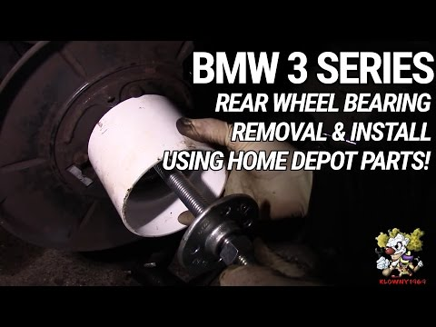Rear Wheel Bearing Removal & Install - USING HOME DEPOT PLUMBING SUPPLIES - BMW 3 Series - DIY