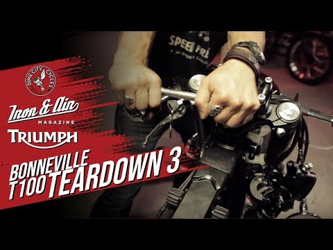 The Dime City, Iron & Air & Triumph Motorcycles Bonneville T100 Giveaway! - Teardown Video 3