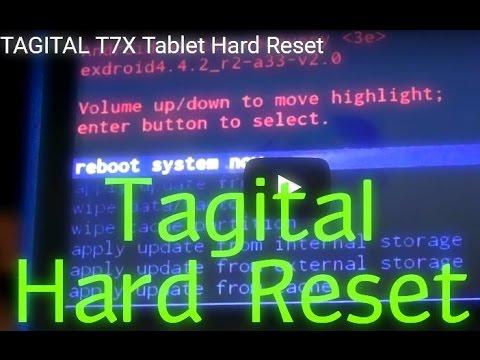 TAGITAL T7X Tablet Hard Reset
