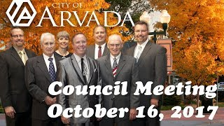 Preview image of Arvada City Council Meeting, October 16, 2017