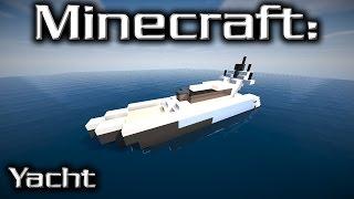 Minecraft: Small Yacht Tutorial 13