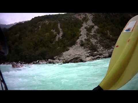 Soca river white water kayaking, Otona section. Slovenia 15-08-2011