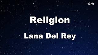 Religion - Lana Del Rey Karaoke【Guide Melody】
