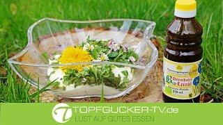 Apfelquark mit Bio-Leinöl mit frischen Wildkräutern | Rezeptempfehlung Topfgucker-TV