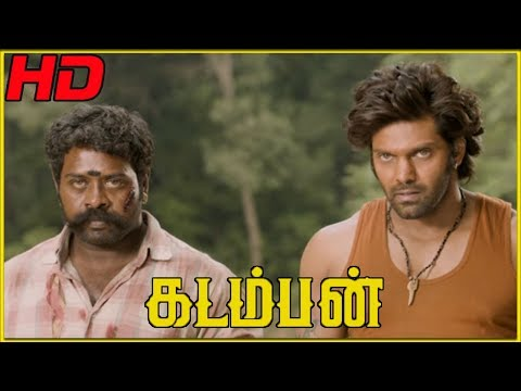 Goons fire against Arya | Kadamban Climax Scene | Arya uses elephants to fight with goons