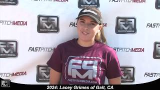 2024 Lacey Grimes Speedy Outfielder Softball Skills Video