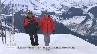 Albiez Montrond France  City new picture : VU D'ICI : Les enfants voient blanc à Albiez Montrond