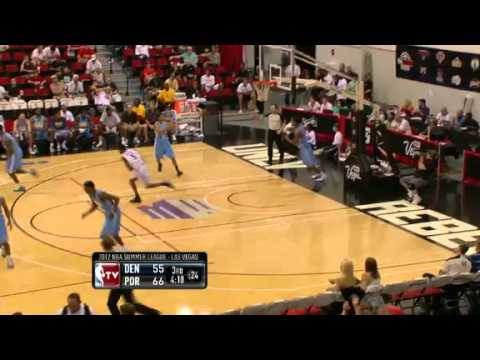 Damian Lillard to Will Barton alley oop dunk