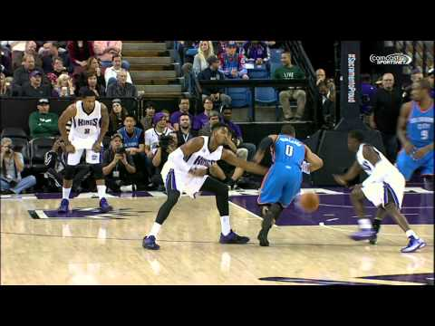 Video: Russell Westbrook Slices Through the Kings for the Vicious Dunk