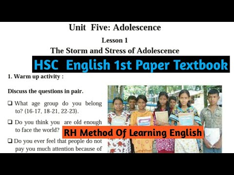 Video HSC English 1st Paper  (Unit 5: Lesson 1)  The Storm & Stress of Adolescence. download in MP3, 3GP, MP4, WEBM, AVI, FLV January 2017