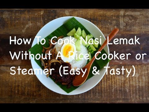 Yes! You can still make a delicious coconut rice/nasi lemak, without a rice cooker or a steamer!
