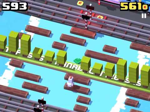 Crossy Road World Record!  Highest Score Ever! (1000+)