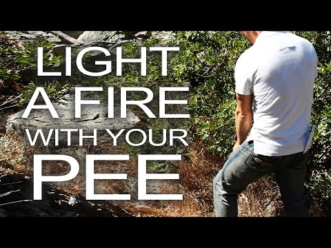 urine - Light a survival fire with your pee. If you're into survival skills and fire-making techniques, this is a great trick to know if urine trouble. http://www.th...