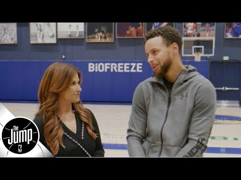 Video: Steph Curry reacts to Kevin Durant's comments on the Warriors not accepting him | The Jump