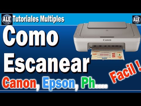 Como Escanear Fotos Y Documentos | Escanear En Cualquier Impresora Canon Epson Hp