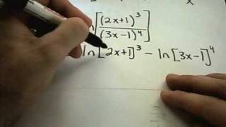 In this video, I give the formulas for finding derivatives of logarithmic functions and use them to find derivatives! For more free math ...