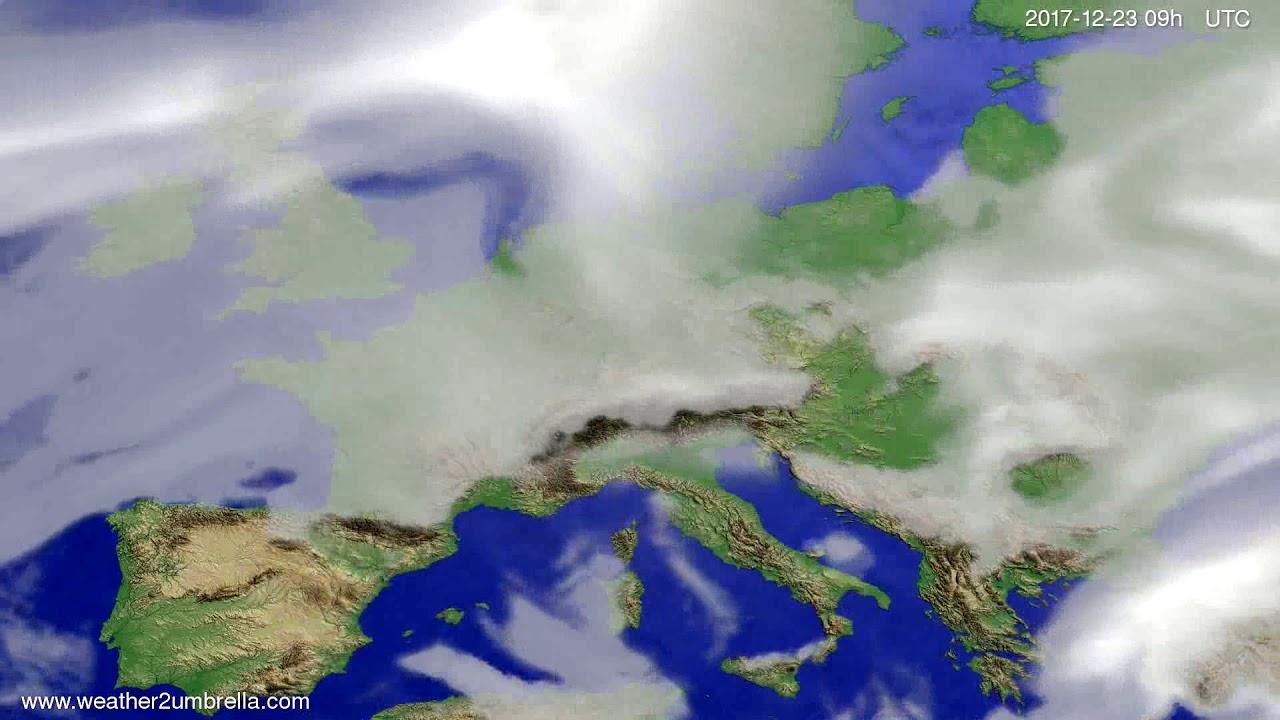 Cloud forecast Europe 2017-12-19