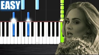 Adele - Hello - EASY Piano Tutorial  Ноты и МИДИ (MIDI) можем выслать Вам (Sheet music for piano)