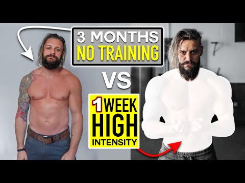 3 Months NO TRAINING vs 7 DAYS Intense WEIGHT LIFTING/DIET... The Result! (Fully Explained   Week 1)