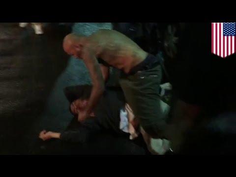 Mężczyzna brutalnie pobity przed klubem