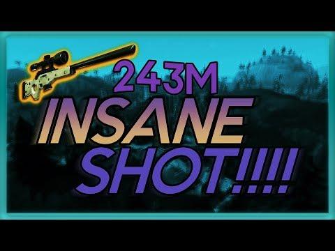 Fortnite:INSANE!!! SNIPER SHOT (243M)