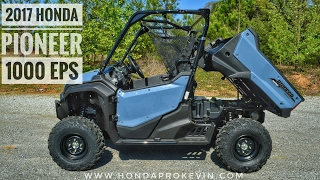1. 2017 Honda Pioneer 1000 EPS Review of Specs & Features / UTV Walk-Around | SXS10M3P
