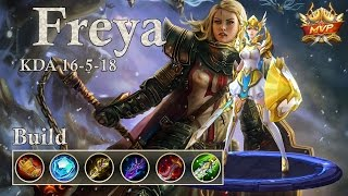 Download Lagu Mobile Legends: Freya MVP, the unstoppable Valkyrie! 1v3 the enemies!? Mp3